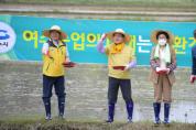 여수시, '친환경농업단지 올해 첫 모내기'…'풍년 기원'